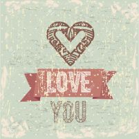 19862004-I-love-you-card-over-vintage-background-Stock-Vector